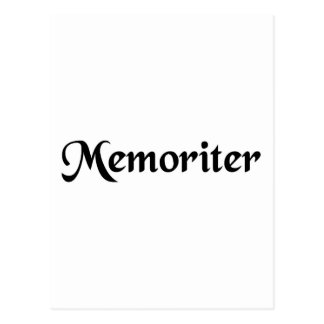 Da memória cartão postal
