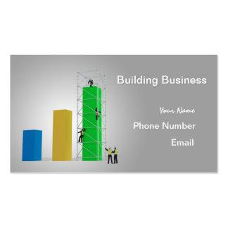"""Da """"negócio construção """" cartão de visita"""