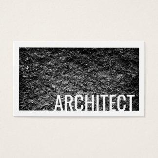 Da parede áspera do cimento do arquiteto cartão