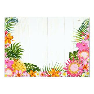 Da praia havaiana do casamento de Luau cartão