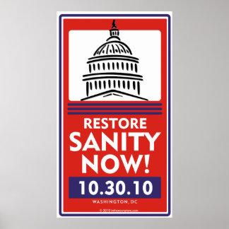 Da restauração da sanidade poster agora