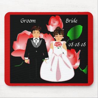 """Da """"rosa vermelha"""" Mousepad noiva & do noivo"""