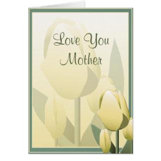 Da tulipa bonita do primavera do dia das mães cartão comemorativo