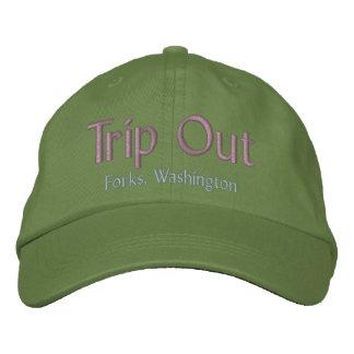 Da viagem forquilhas para fora, chapéu de boné bordado