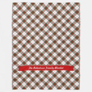 ~ da xadrez do Natal personalizado Cobertor De Lã