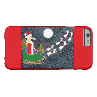 Dachshund do papai noel capa barely there para iPhone 6