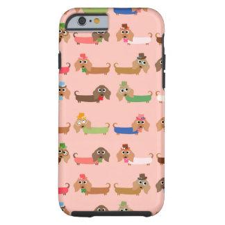 Dachshunds no rosa capa tough para iPhone 6