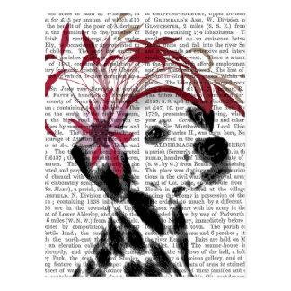Dalmatian com Fascinator vermelho Cartão Postal