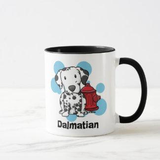 Dalmatian de Kawaii & caneca da boca de incêndio