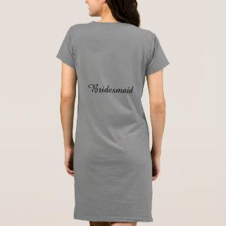 Dama de honra americana do vestido do t-shirt do