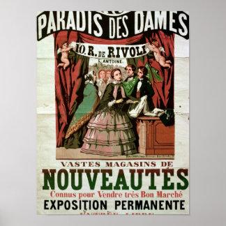 Damas do DES de Paradis do Au da propaganda de pos Poster