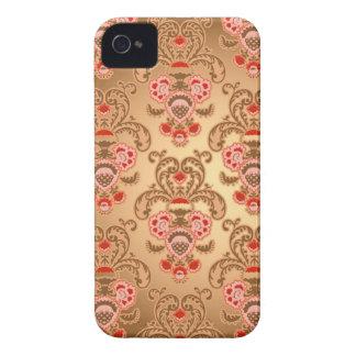 Damasco cor-de-rosa elegante capas iPhone 4 Case-Mate