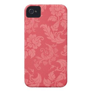 Damasco cor-de-rosa feminino capinhas iPhone 4