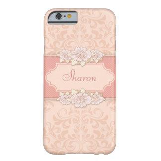 Damasco cor-de-rosa floral capa barely there para iPhone 6