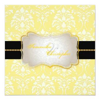 Damasco/creme de PixDezines Florentius + Amarelo Convites Personalizados