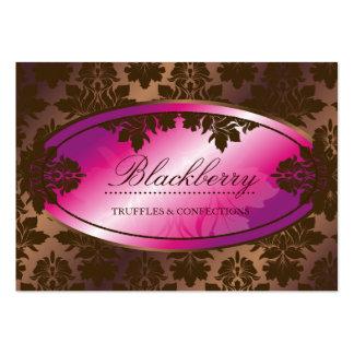 damasco da trufa de chocolate de 311-Sweet Blackbe Cartões De Visita