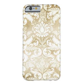 Damasco de creme do vintage de Tan do GC Capa Barely There Para iPhone 6