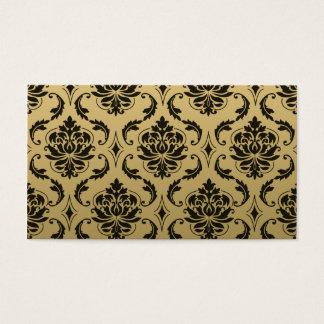 Damasco do ouro e do clássico do preto cartão de visitas