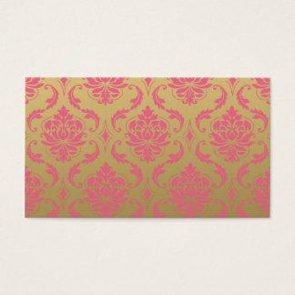 Damasco do ouro e do clássico do rosa cartão de visitas