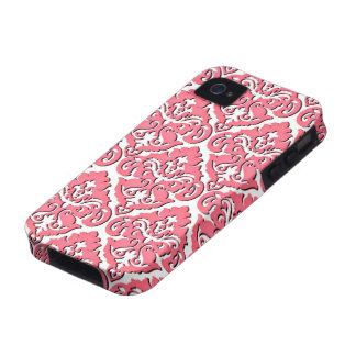 Damasco francês cor-de-rosa feminino capinhas iPhone 4/4S