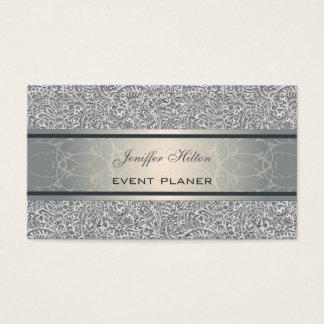 Damasco luxuoso chique elegante profissional cartão de visitas