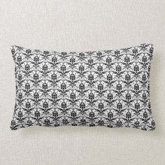 Damasco preto e branco travesseiros de decoração