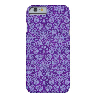 Damasco roxo do Grunge Capa iPhone 6 Barely There