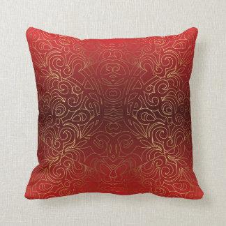 Damascos abstratos florais do travesseiro