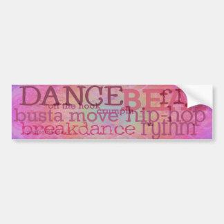 Dança - autocolante no vidro traseiro cor-de-rosa  adesivo para carro