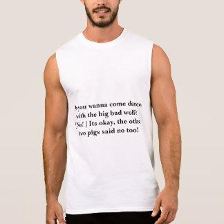 dança com o lobo mau grande camiseta sem manga