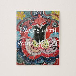 Dança com seu quebra-cabeça do coração