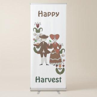 Dança da colheita banner retrátil