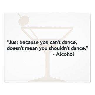 Dança da confiança do álcool modelo de panfleto