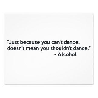 Dança da confiança do álcool panfletos coloridos