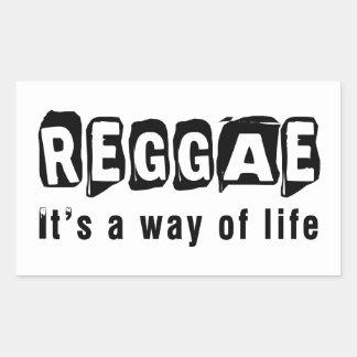 Dança da reggae é um modo de vida adesivos em formato retangulares