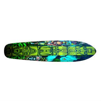 Dança da selva - plataforma da pintura mural da shape de skate 20,6cm