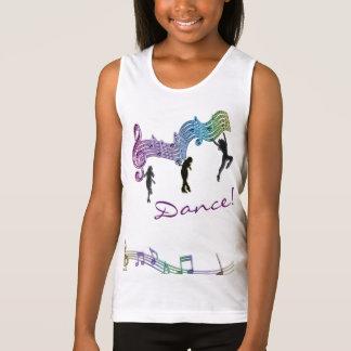 Dança! Dança das notas do arco-íris para o T da T-shirts