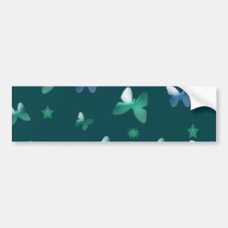 Dança das borboletas no verde azul adesivo para carro