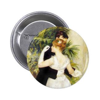 Dança de Renoir no botão da cidade Bóton Redondo 5.08cm