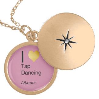 Dança de torneira Playfully elegante do coração de Colar Medalhão