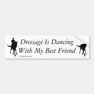 Dança do adestramento com meu cavalo do melhor adesivo para carro