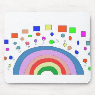 Dança do arco-íris mouse pad