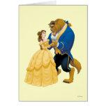 Dança do Belle e do animal Cartao