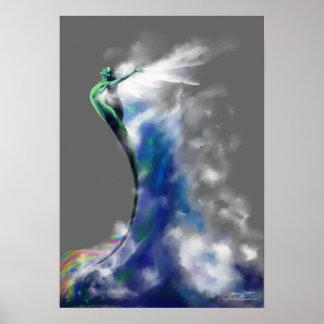Dança do mar: Escuro - cinzas Poster