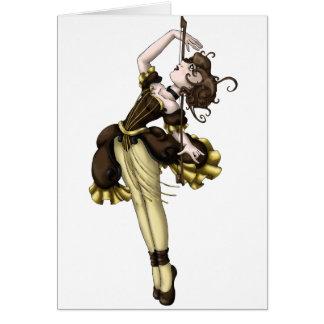 Dança do violoncelo cartão comemorativo