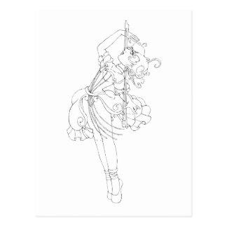 Dança do violoncelo cartão postal