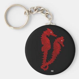 Dança dos cavalos marinhos (vermelhos) chaveiro