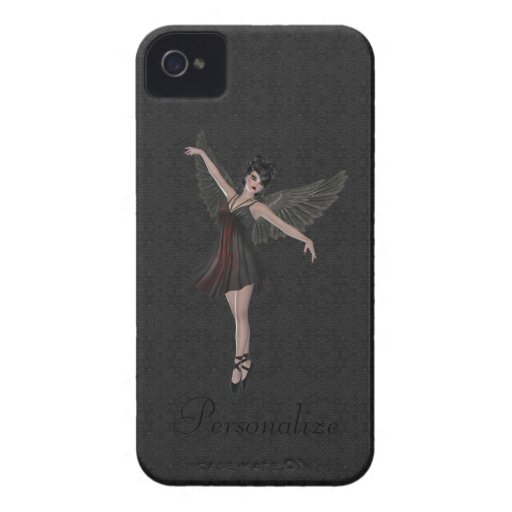 Dança gótico bonito corajosa do anjo de Blackberry iPhone 4 Capas