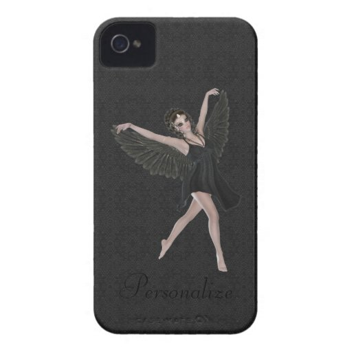Dança gótico bonito corajosa do anjo de Blackberry Capa iPhone 4