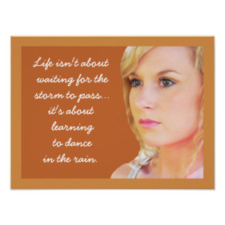 Dança na chuva - poster das citações